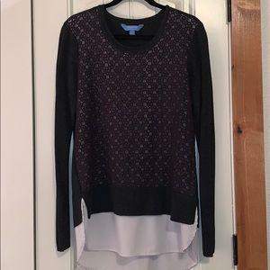 Simply Vera Vera Wang | Black Crochet Layered Top